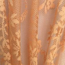 Тюль ажурный персиковый арт.Domtex 58