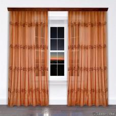 Комплект штор арт.NIL 15 оранжево-розовый