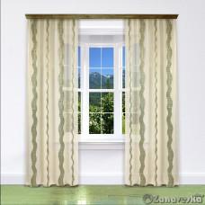 Комплект штор арт.NIL 71 кремовый с волнистой полосой