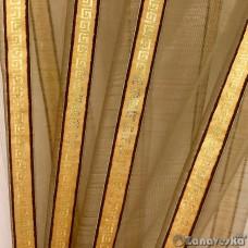 Тюль арт.NIL 68 коричневый, греческий рисунок