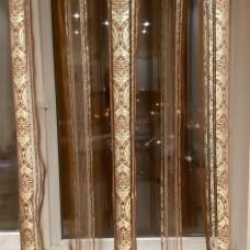 Тюль арт.Star 59 коричневый с золотом